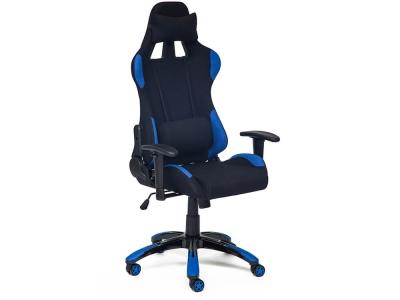Кресло Igear ткань Чёрный + Синий + Black-navy