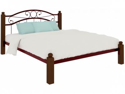 Кровать Надежда Lux красная