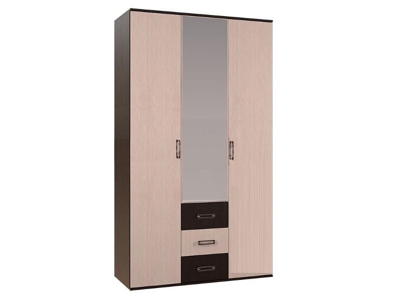 Шкаф 3-х створчатый Белла 2120х1200х470 венге/дуб атланта