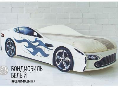Кровать-машина Бондмобиль белый