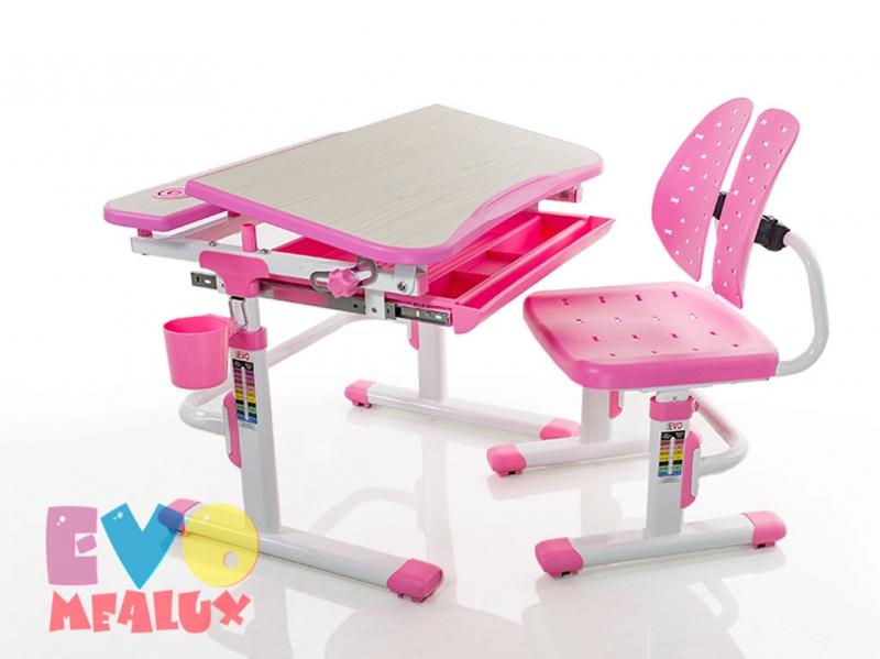 Парта и стульчик Mealux EVO-05 PN розовая