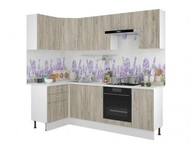 Кухонный гарнитур угловой Европа 1200х2400 Серый Крафт