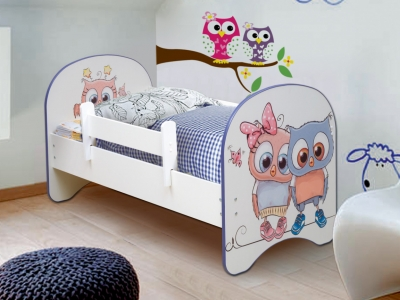 Кровать детская с фотопечатью без ящика Совята