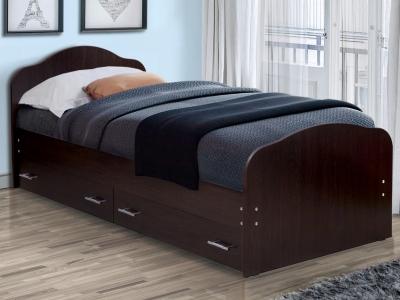 Кровать одинарная на уголках №1 с ящиками Матрица