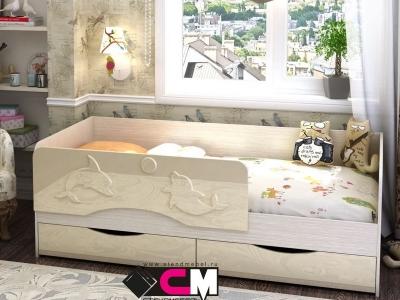 Кровать Алиса ваниль глянец