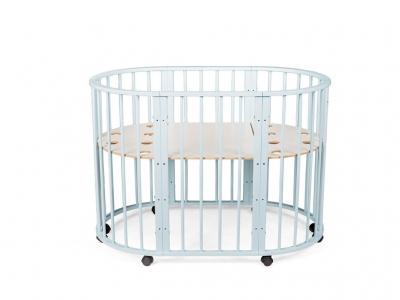 Кроватка для новорожденных трансформер Sleepy 8 в 1 голубая