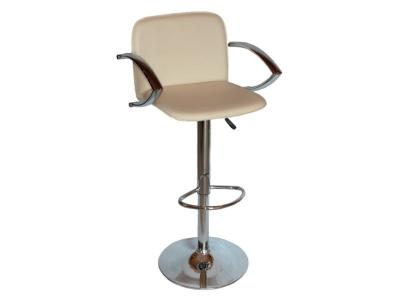 Барный стул Лого LM-3019 кремовый со спинкой и подлокотниками