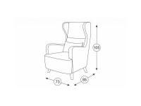 Кресло для отдыха Меланж ТК 233