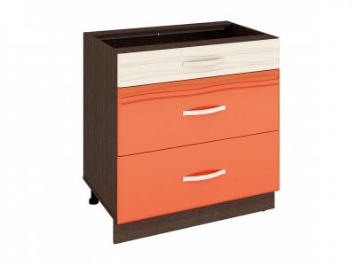 Стол с 3 ящиками плавное закрывание 09.92 Оранж 800х530х820