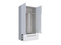 Шкаф 2-х створчатый с ящиками Палермо-Юниор красная вставка 1068х2110х445 мм