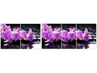 Стол Ника с ящиком хром Орхидея
