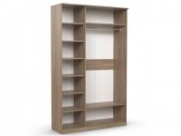 Шкаф 3-х створчатый Дуэт Люкс 1415х450х2300 с зеркалом венге