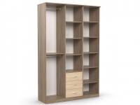 Шкаф комбинированный Дуэт Люкс 1500х450х2300 ясень шимо