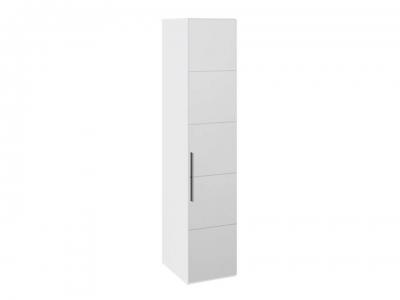 Шкаф с 1 зерк. дверью правый Наоми СМ-208.07.02 R Белый глянец