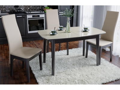 Стол обеденный Портофино СМ(ТД)-105.02.11(3) Венге, стекло