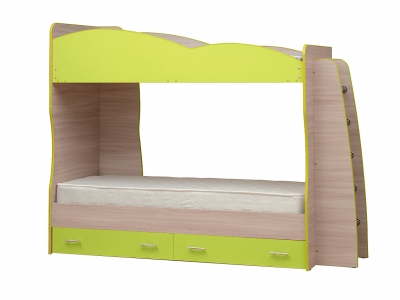 Кровать детская двухъярусная Юниор-1.1 Лайм