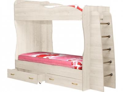 Кровать детская двухъярусная Юниор-1 Ясень анкор светлый
