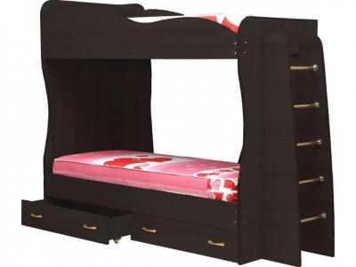 Кровать детская двухъярусная Юниор-1 Венге